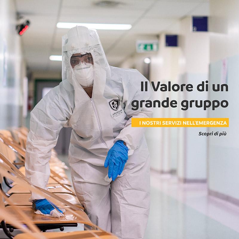 Il valore di un grande Gruppo, i nostri servizi nell'emergenza