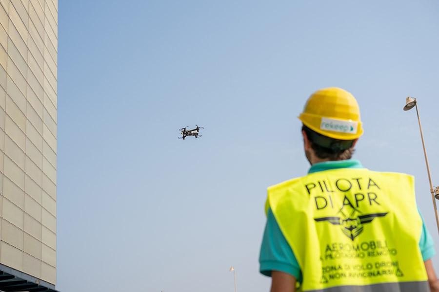 L'impiego di droni nei nostri servizi di facility